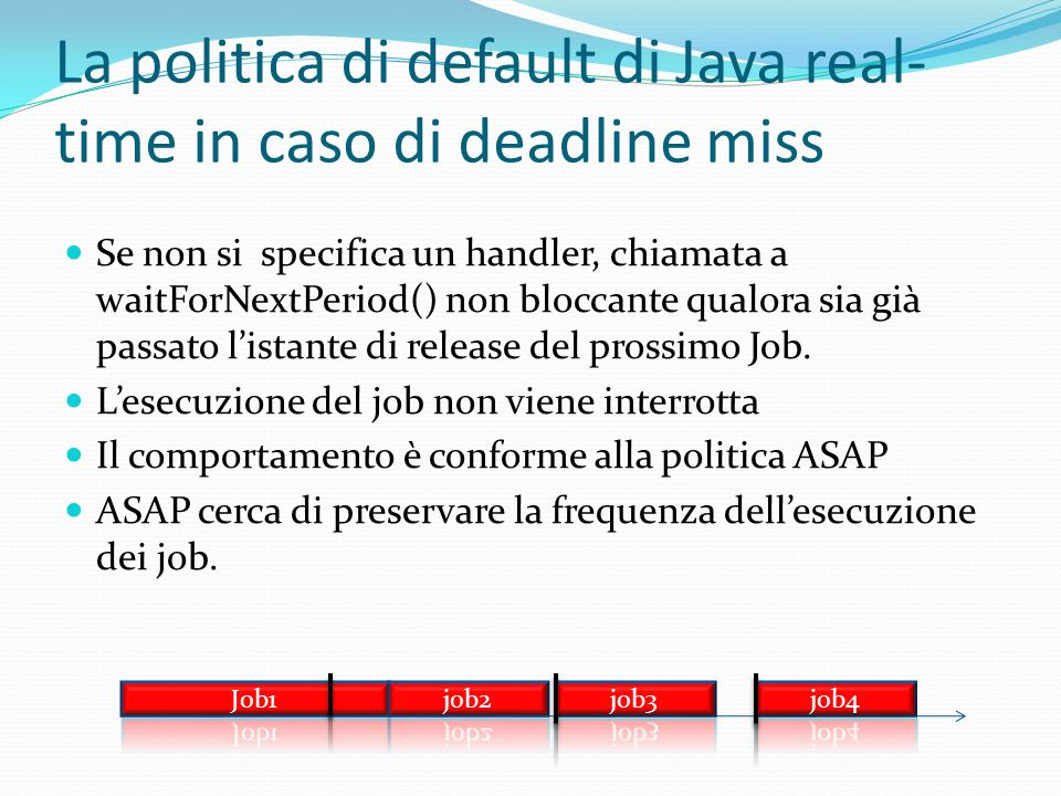 La politica di default di Java real-time in caso di deadline miss