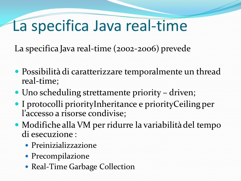 La specifica Java real-time