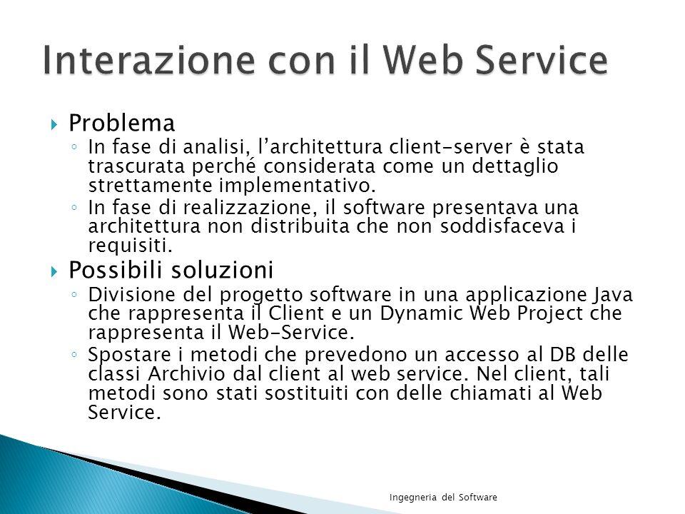 Interazione con il Web Service