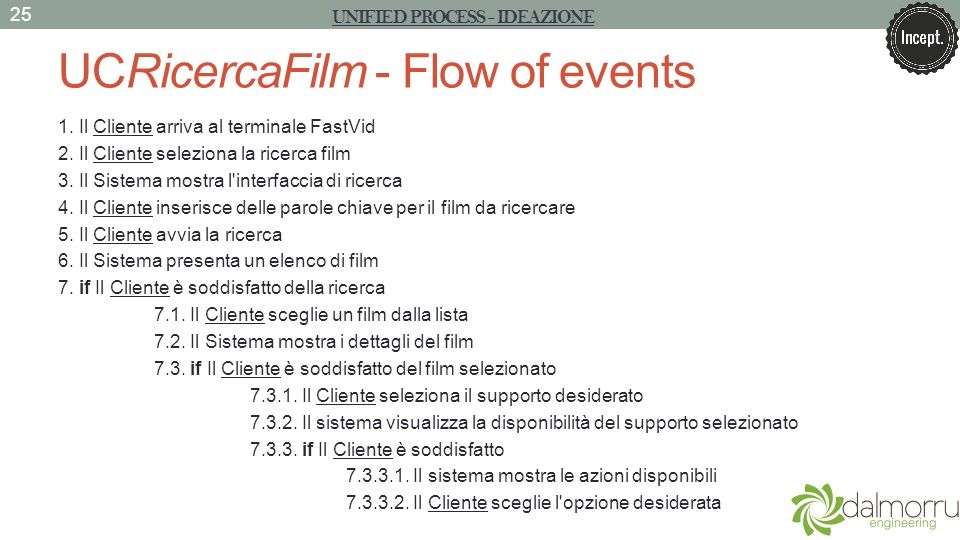 UCRicercaFilm - Flow of events