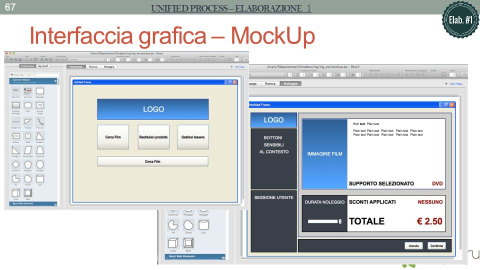 Interfaccia grafica – MockUp