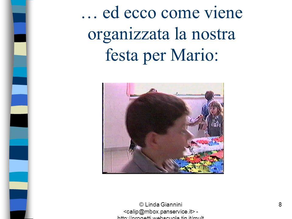 … ed ecco come viene organizzata la nostra festa per Mario: