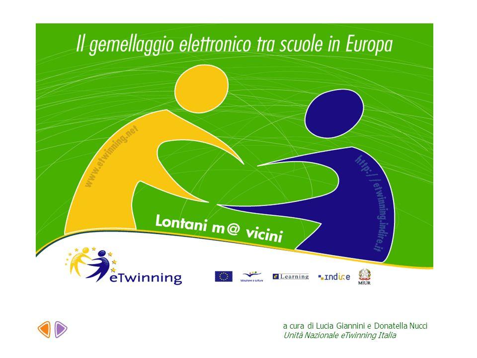 a cura di Lucia Giannini e Donatella Nucci Unità Nazionale eTwinning Italia