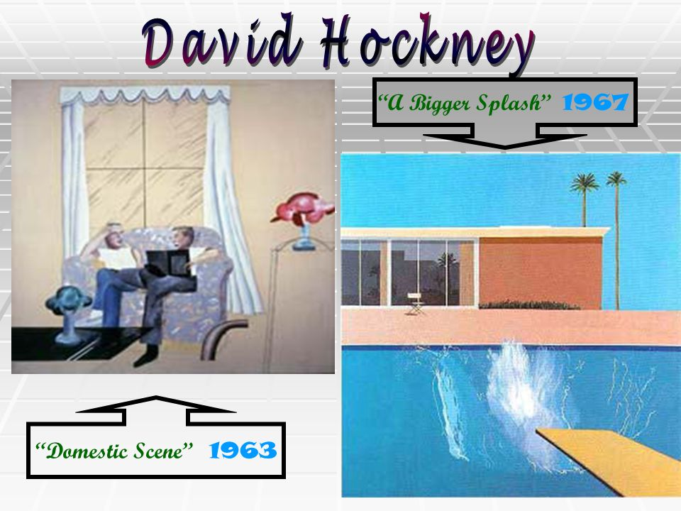 David Hockney A Bigger Splash 1967 Domestic Scene 1963