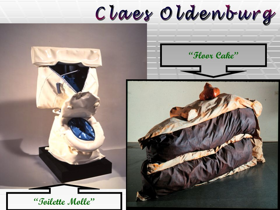Claes Oldenburg Floor Cake Toilette Molle