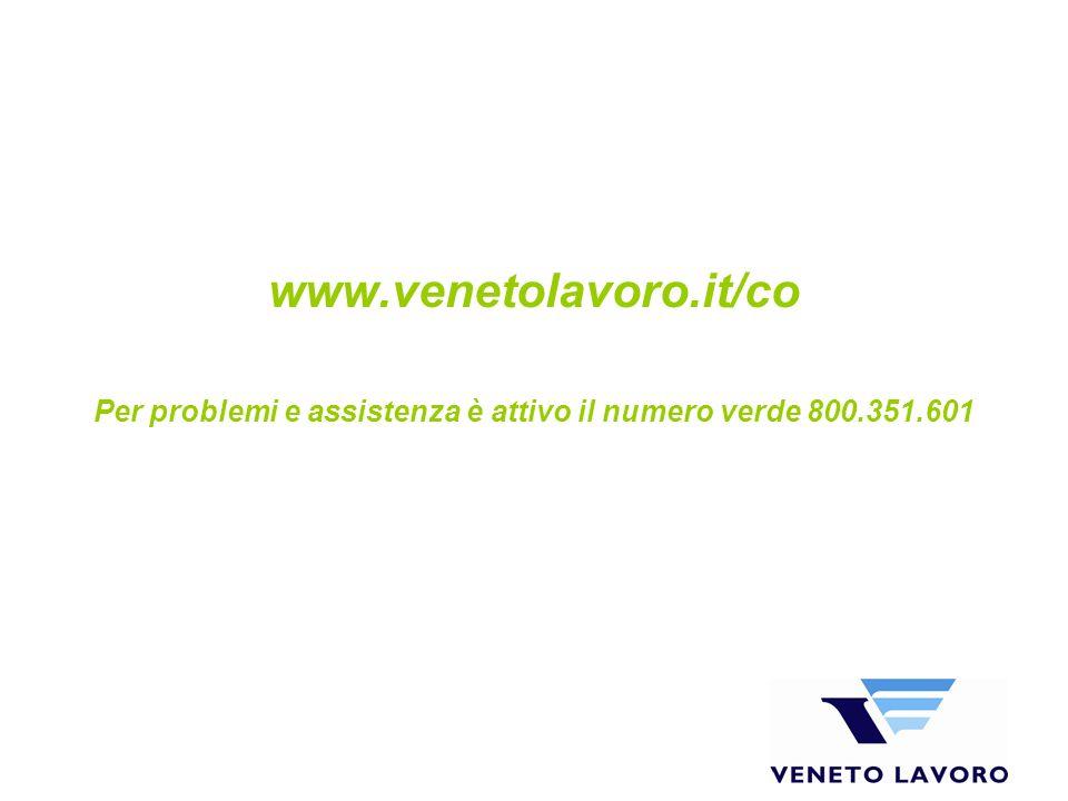Per problemi e assistenza è attivo il numero verde 800.351.601