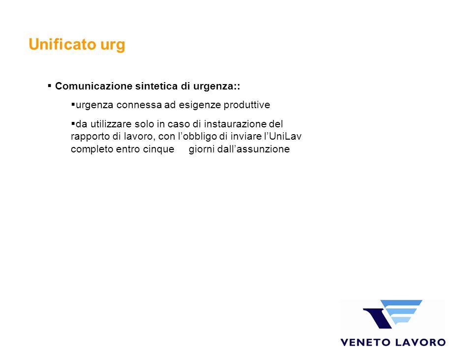 Unificato urg Comunicazione sintetica di urgenza::