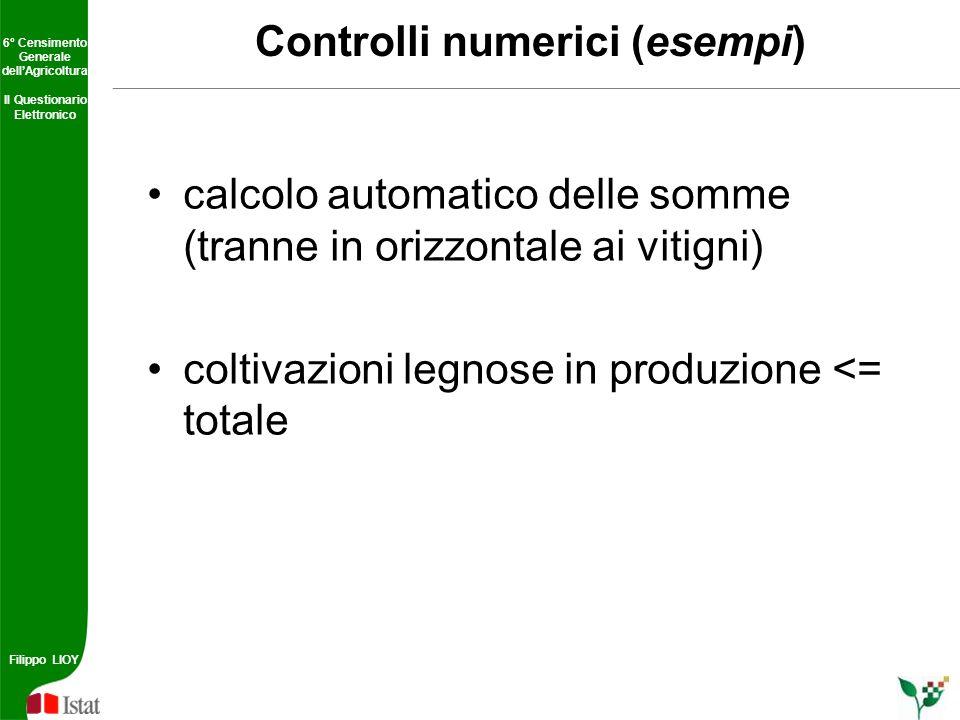Controlli numerici (esempi)