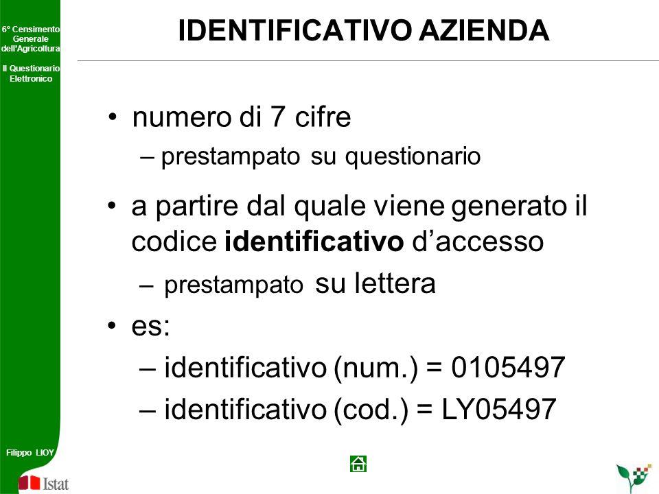 IDENTIFICATIVO AZIENDA