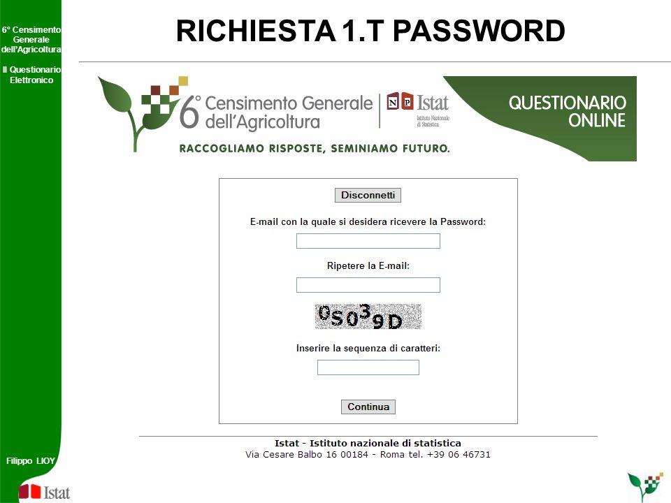 RICHIESTA 1.T PASSWORD 5