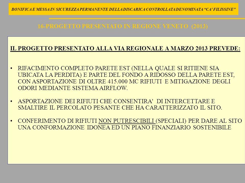 16-PROGETTO PRESENTATO IN REGIONE VENETO (2013)