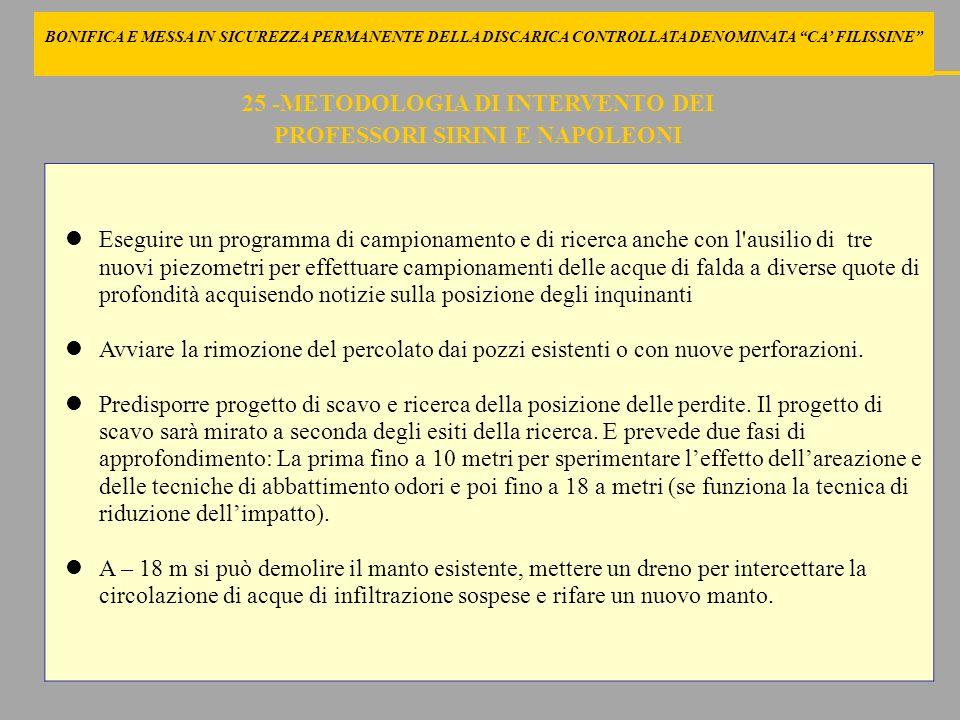 25 -METODOLOGIA DI INTERVENTO DEI PROFESSORI SIRINI E NAPOLEONI