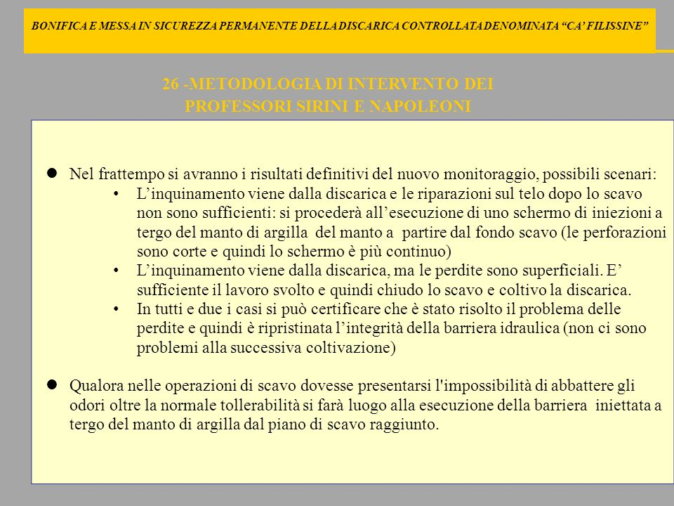 26 -METODOLOGIA DI INTERVENTO DEI PROFESSORI SIRINI E NAPOLEONI
