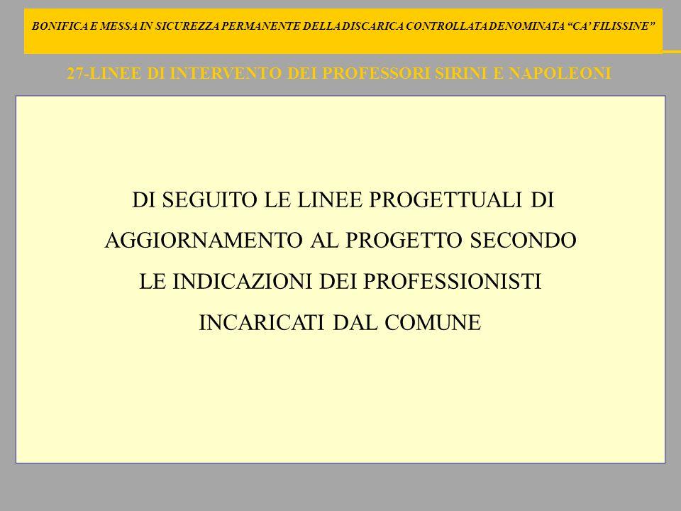 27-LINEE DI INTERVENTO DEI PROFESSORI SIRINI E NAPOLEONI