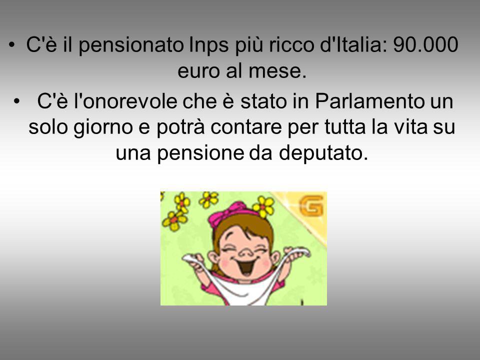 C è il pensionato Inps più ricco d Italia: 90.000 euro al mese.