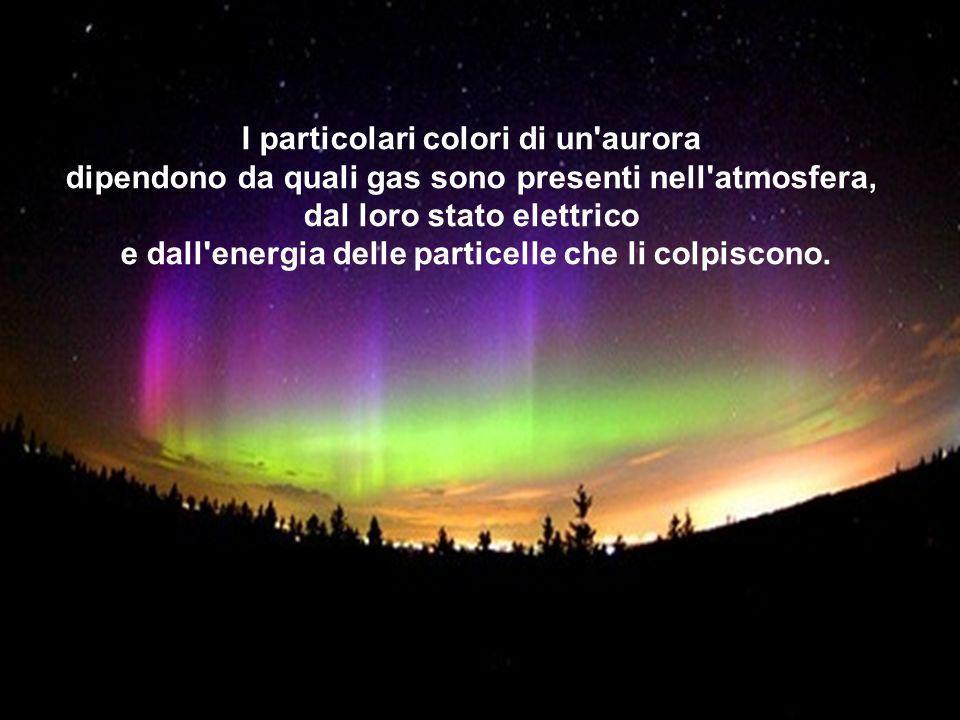 I particolari colori di un aurora