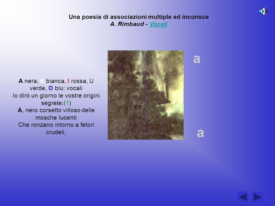 Una poesia di associazioni multiple ed inconsce A. Rimbaud - Vocali