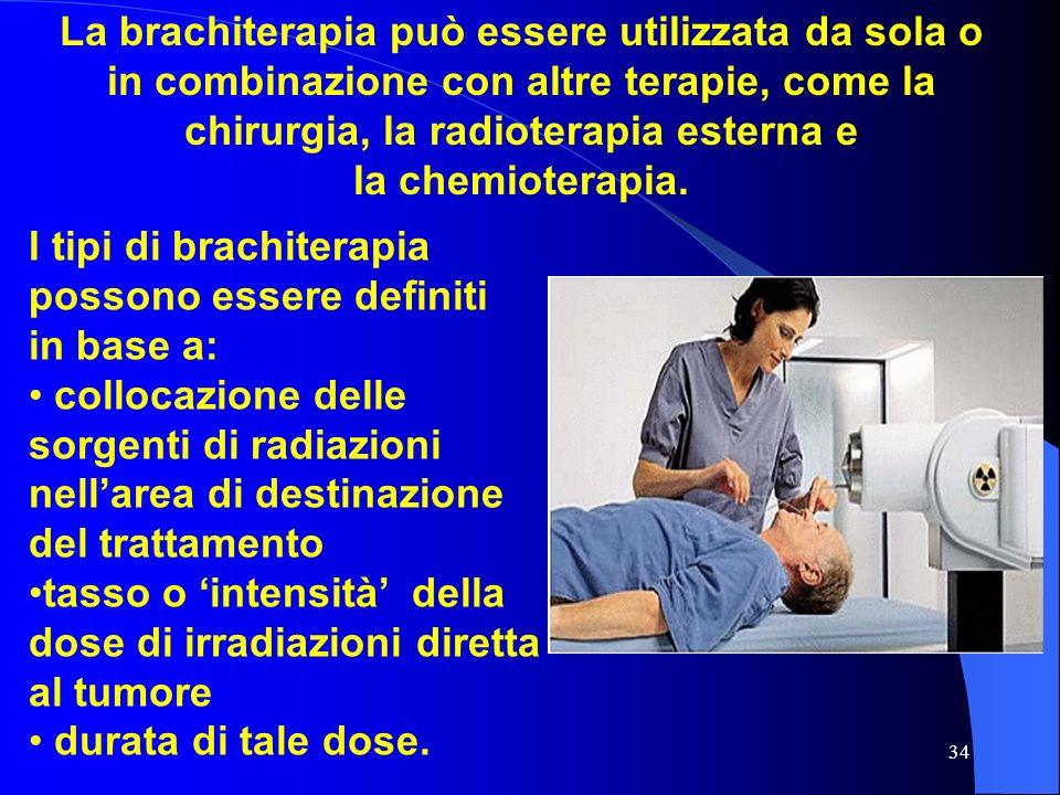 La brachiterapia può essere utilizzata da sola o