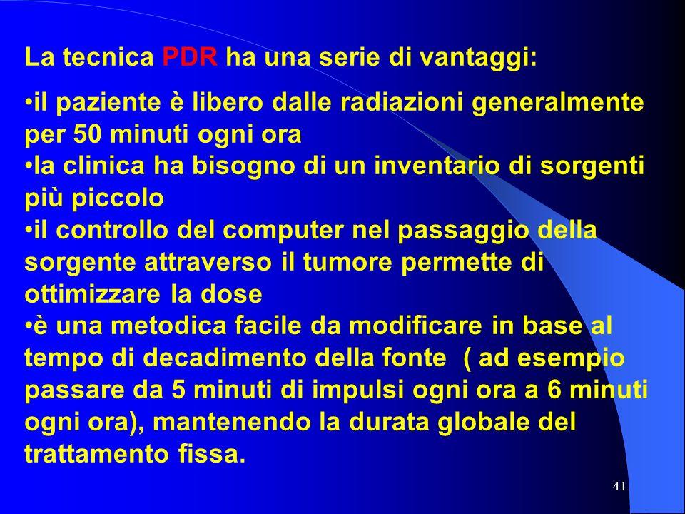 La tecnica PDR ha una serie di vantaggi:
