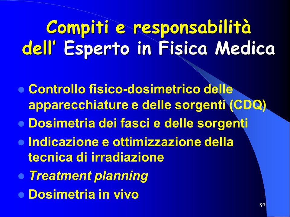 Compiti e responsabilità dell' Esperto in Fisica Medica