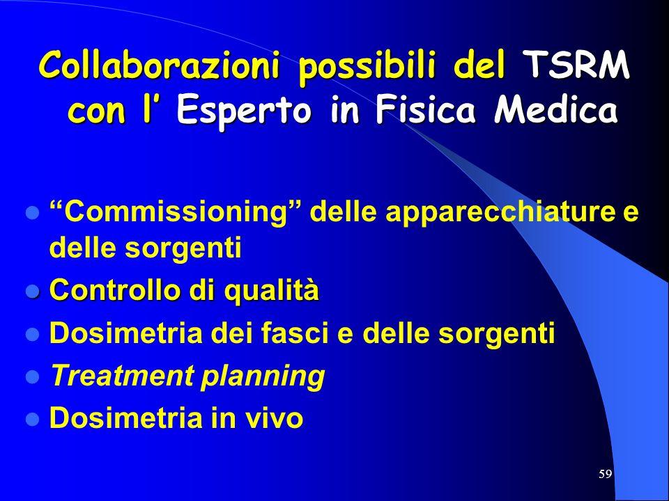 Collaborazioni possibili del TSRM con l' Esperto in Fisica Medica