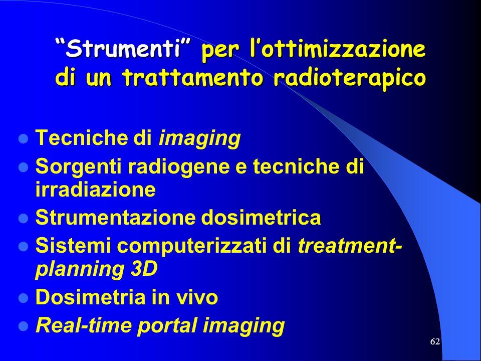 Strumenti per l'ottimizzazione di un trattamento radioterapico