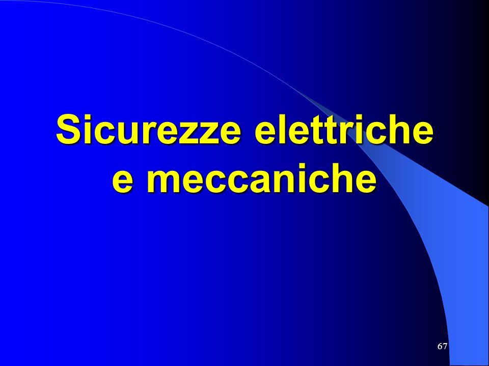Sicurezze elettriche e meccaniche