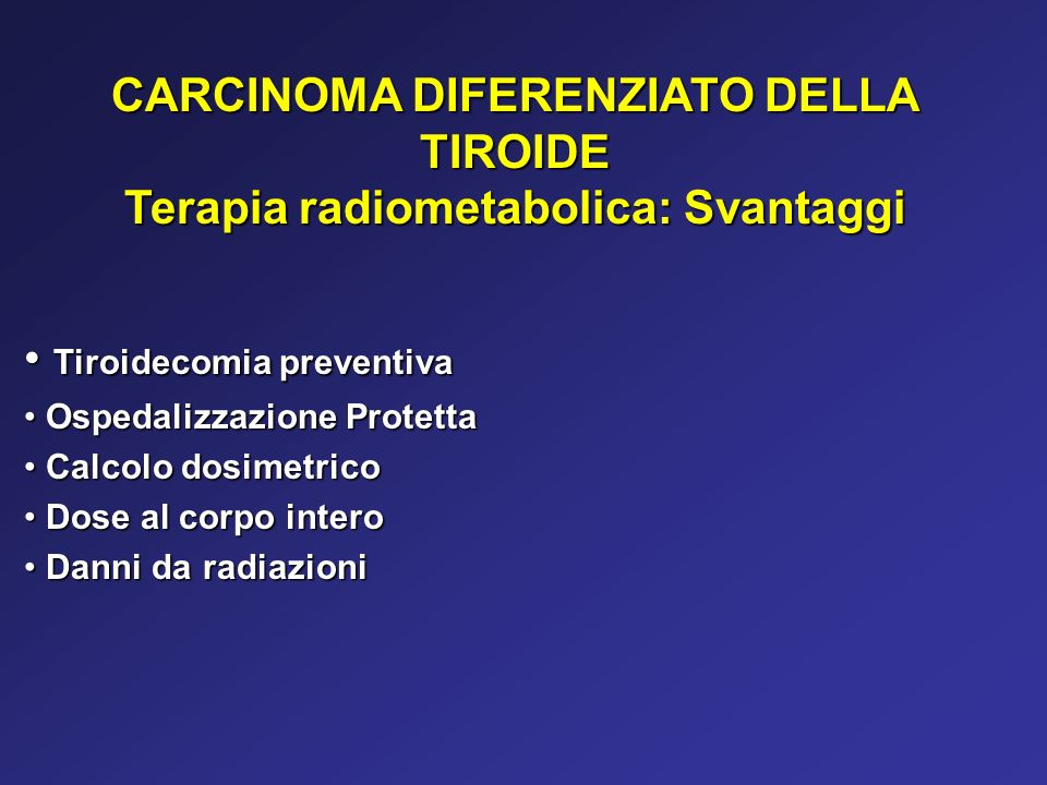 CARCINOMA DIFERENZIATO DELLA TIROIDE