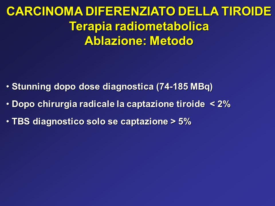 CARCINOMA DIFERENZIATO DELLA TIROIDE Terapia radiometabolica
