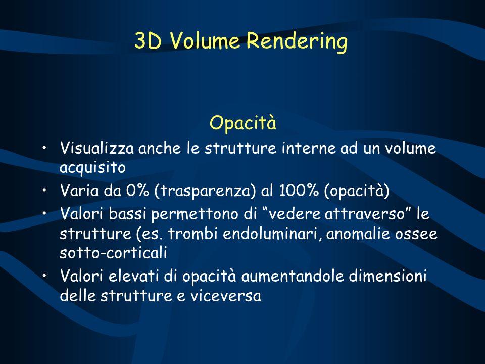 3D Volume Rendering Opacità