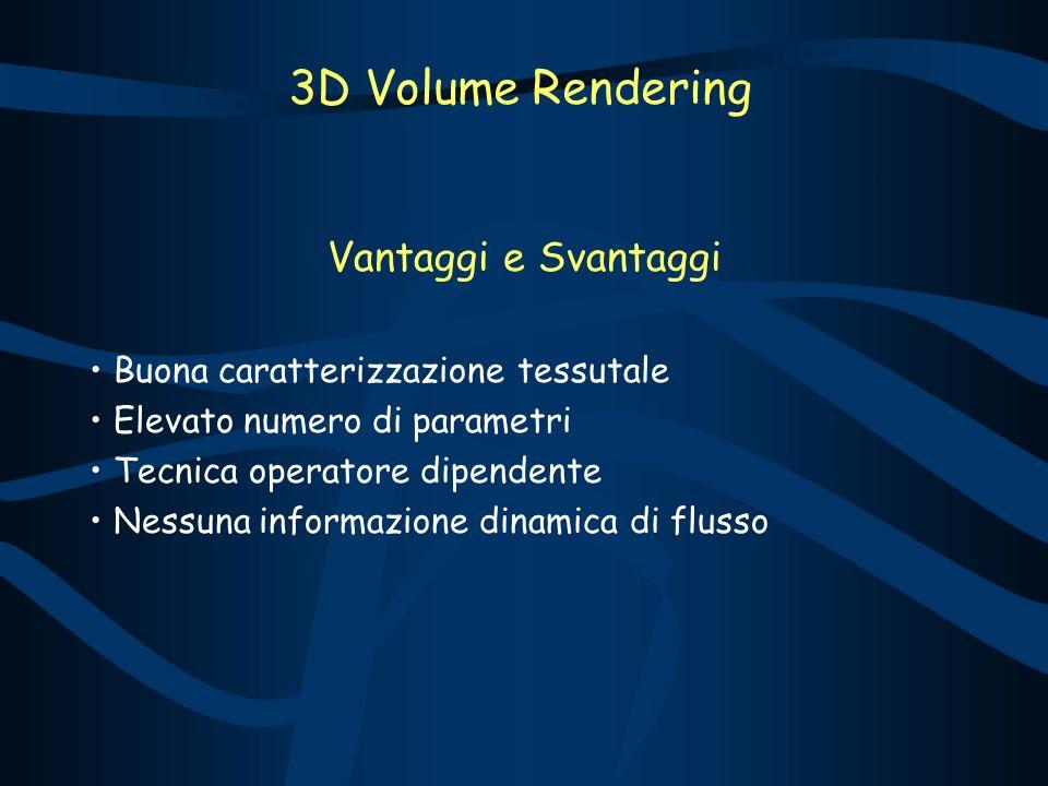 3D Volume Rendering Vantaggi e Svantaggi