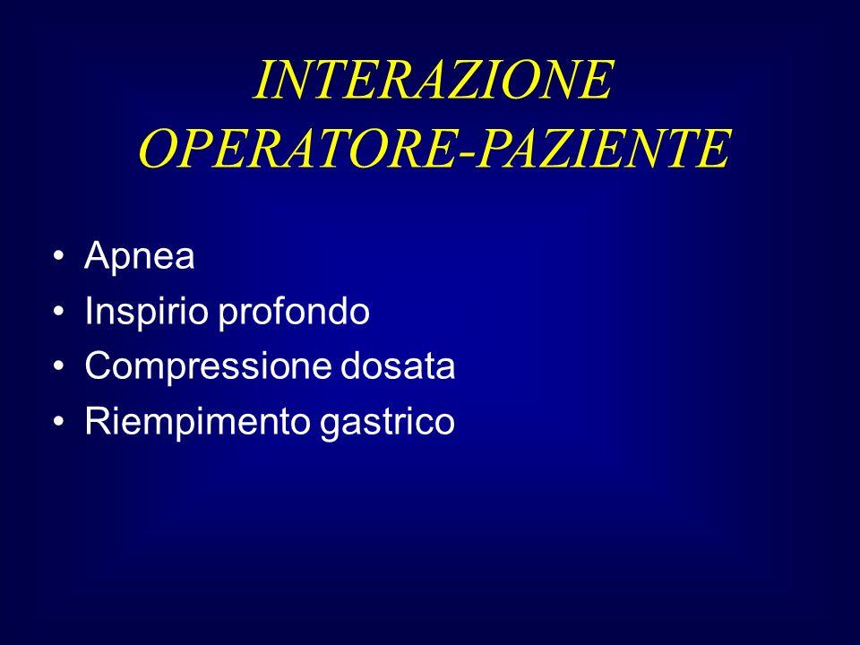 INTERAZIONE OPERATORE-PAZIENTE