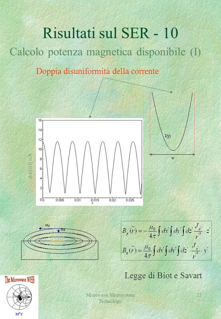 Risultati sul SER - 10 Calcolo potenza magnetica disponibile (I)
