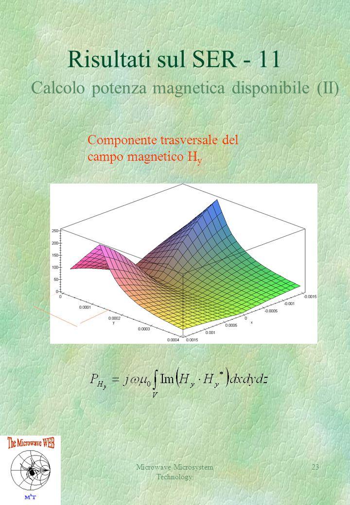 Risultati sul SER - 11 Calcolo potenza magnetica disponibile (II)