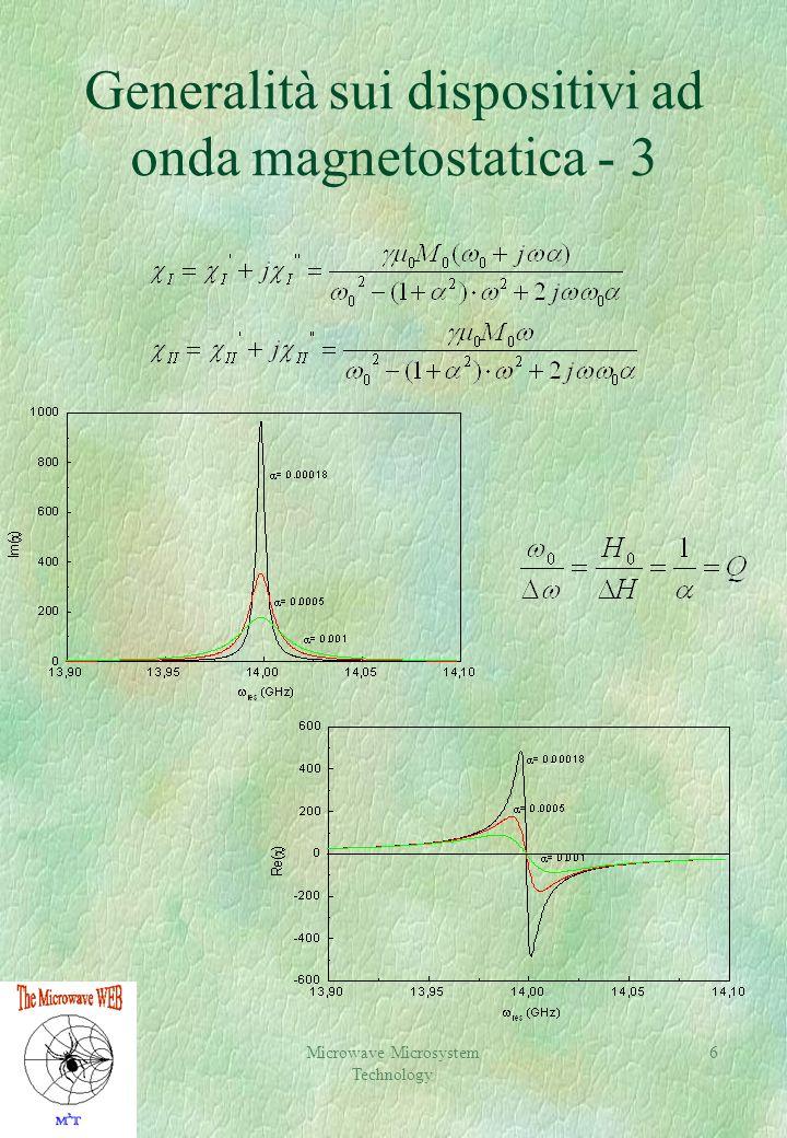Generalità sui dispositivi ad onda magnetostatica - 3