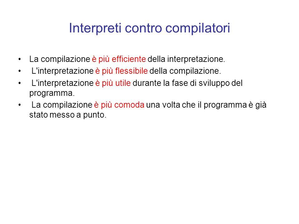 Interpreti contro compilatori