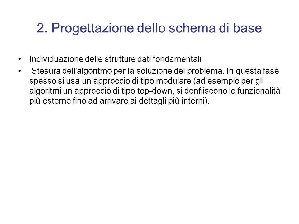 2. Progettazione dello schema di base