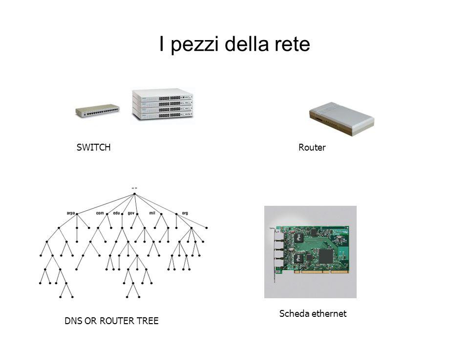 I pezzi della rete SWITCH Router Scheda ethernet DNS OR ROUTER TREE