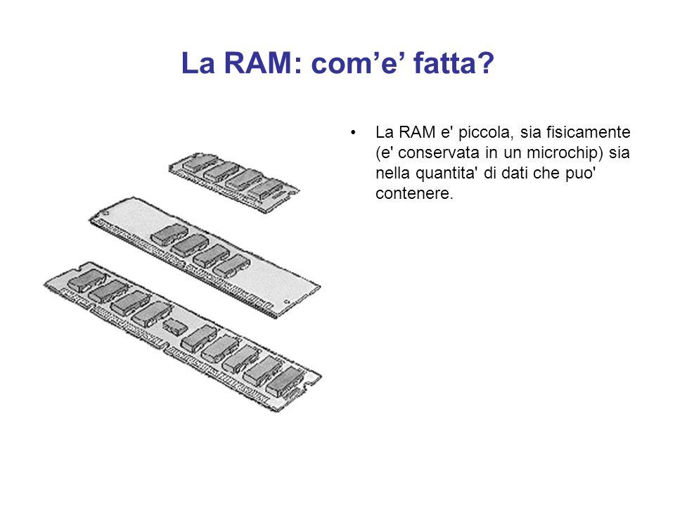 La RAM: com'e' fatta.