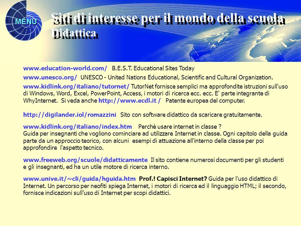 Siti di interesse per il mondo della scuola