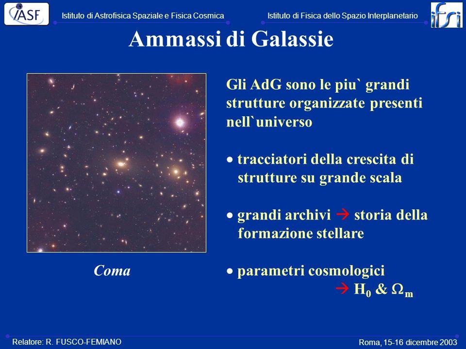 Ammassi di Galassie Gli AdG sono le piu` grandi