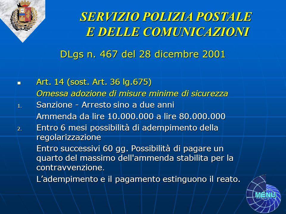 SERVIZIO POLIZIA POSTALE
