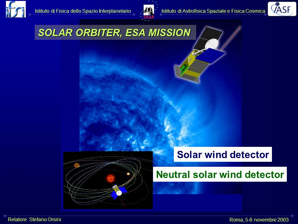 SOLAR ORBITER, ESA MISSION