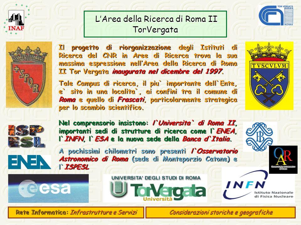 L'Area della Ricerca di Roma II TorVergata