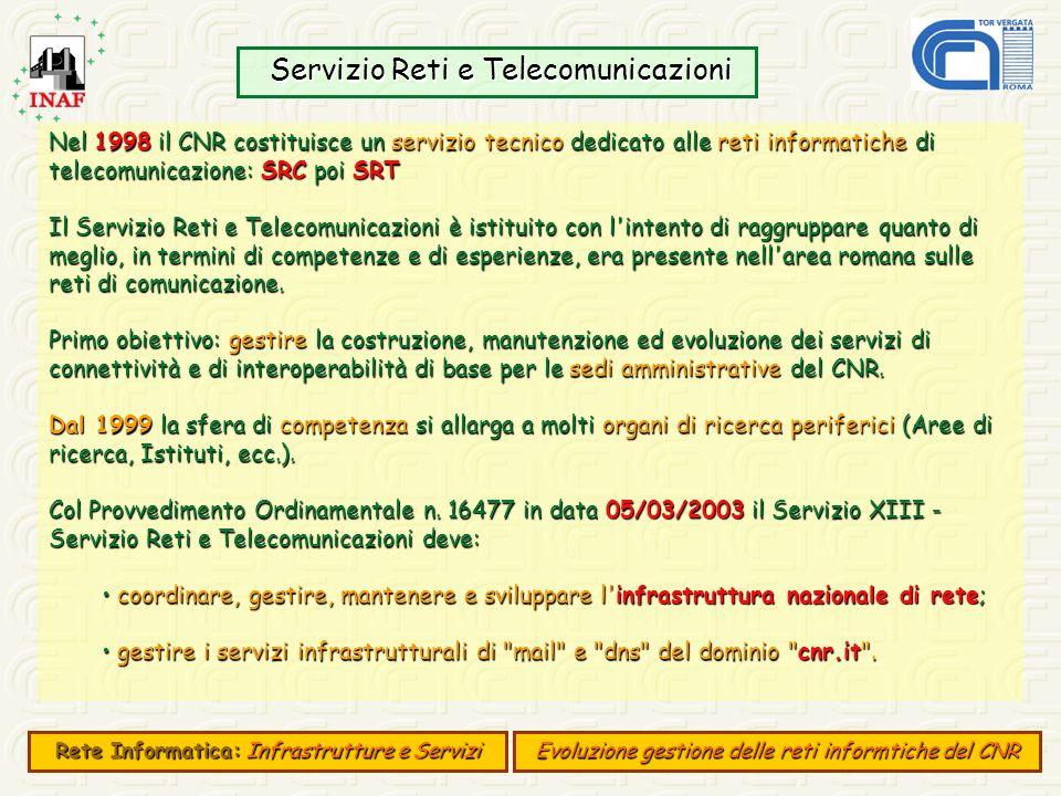 Servizio Reti e Telecomunicazioni