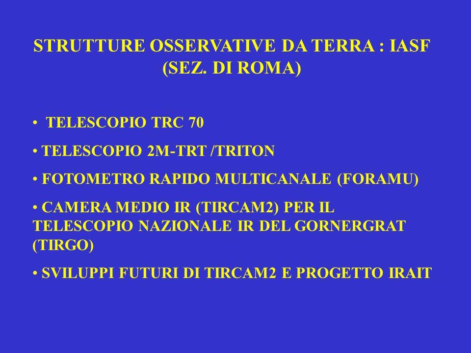 STRUTTURE OSSERVATIVE DA TERRA : IASF (SEZ. DI ROMA)
