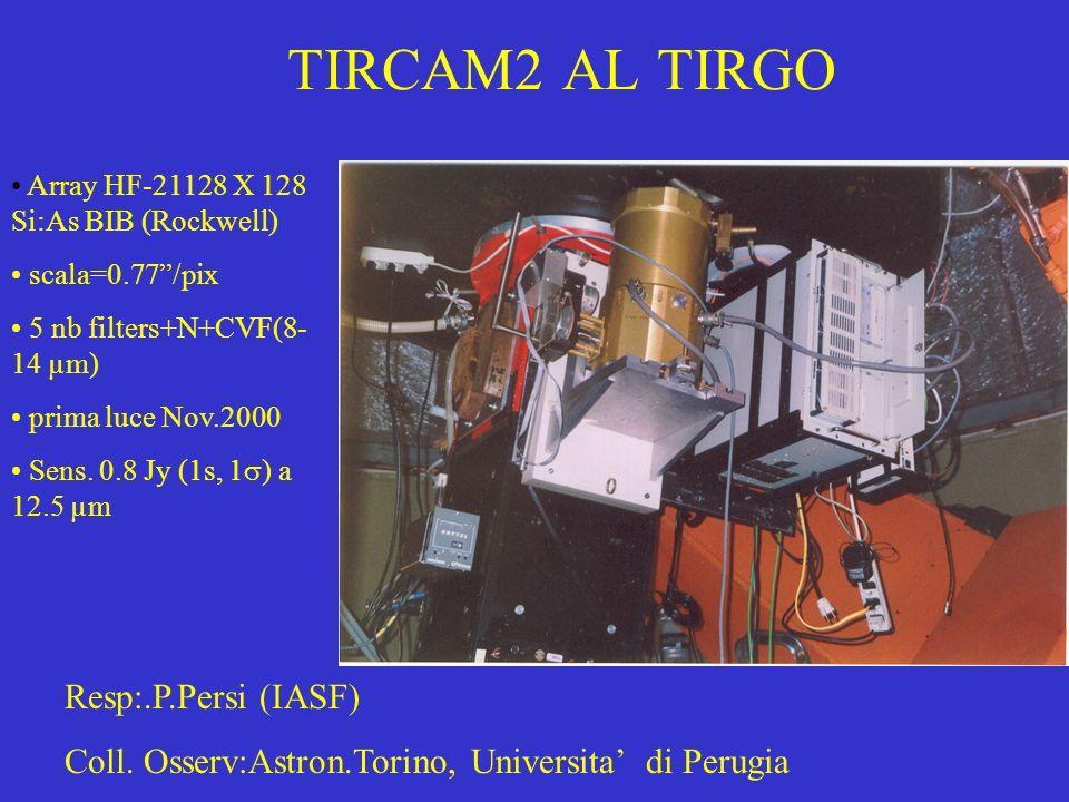 TIRCAM2 AL TIRGO Resp:.P.Persi (IASF)