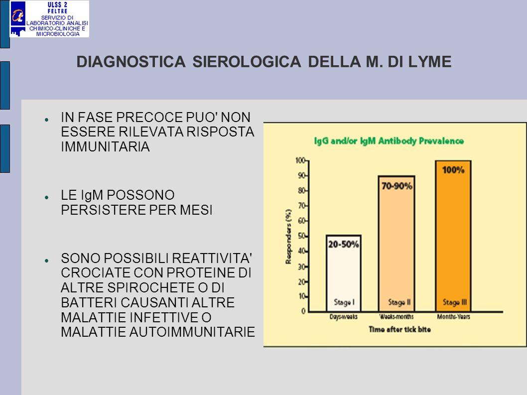 DIAGNOSTICA SIEROLOGICA DELLA M. DI LYME