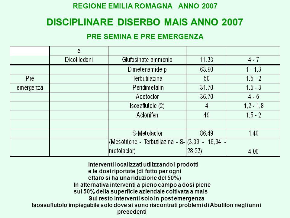 DISCIPLINARE DISERBO MAIS ANNO 2007