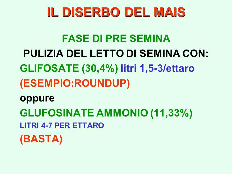 PULIZIA DEL LETTO DI SEMINA CON: